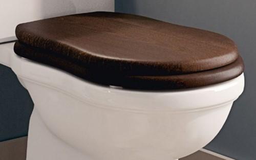 23N/CR Houten zitting met deksel voor Efi toilet