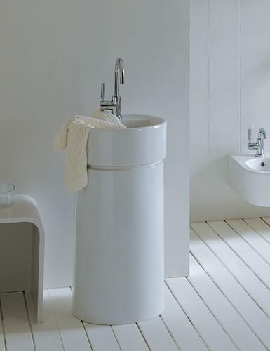 5050/COLP Zuil Vrij staande TWIN COLUMN voor wastafel tegen de muur