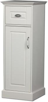 CL40W01 Royal Oak Halfhoge kast met deur en lade.