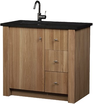 CN100B01N Country meubel 100 cm met granieten blad NATUREL