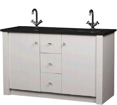 CN140B01W Royal Oak meubel 140 cm met granieten blad WIT
