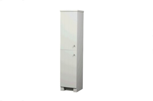CN40W01 WIT Country meubel hoge kast met twee deuren. Wit