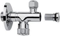 F190CR Sottolavabo - Chrome-plated tap with filter,adjustment and shut off, 3/8'' Ø10 outlet