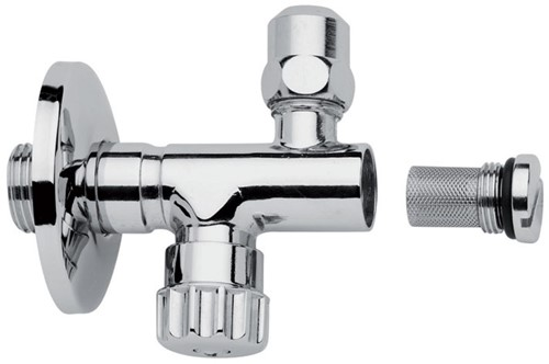 """F190/1CR Tap with filter, adjustment and shut off,3/8"""" Ø 10 outlet high nut"""
