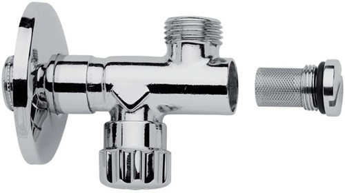 F192CR Sottolavabo - Chrome-plated tap with filter, adjustment and shut off, 1/2'' x 1/2''