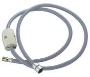 F2023CR Nylon flex. hose for Deck mounted bath