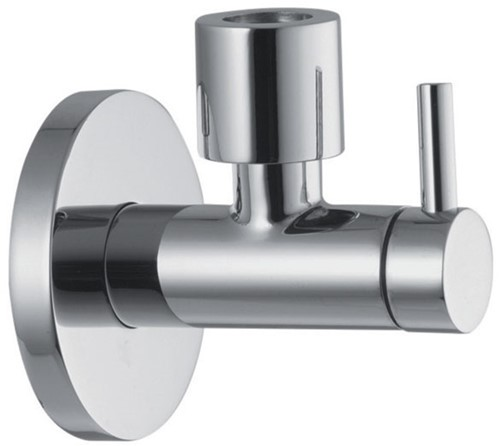 """F204CR Chrome-plated tap with filter,adjustment and shut off, 3/8"""" Ø 10 outlet"""