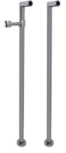 F2127CR Wellness - Pair of standpipes for deck mounted