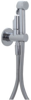 F2310CR 2310 CHROME WC MIX VALVE WITH INTEGR.DOUCHE HANDSET HOLDER,FLEXIBLE HOSE
