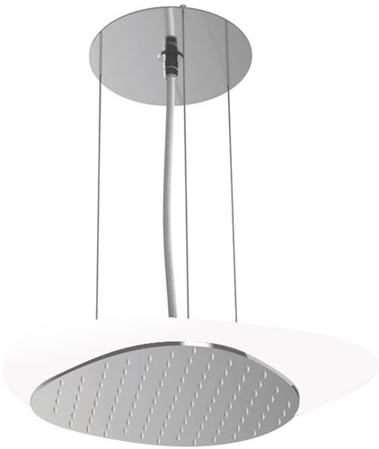 F2651BCR Wellness - Ceiling mounted stainless steel showerhead Cloud