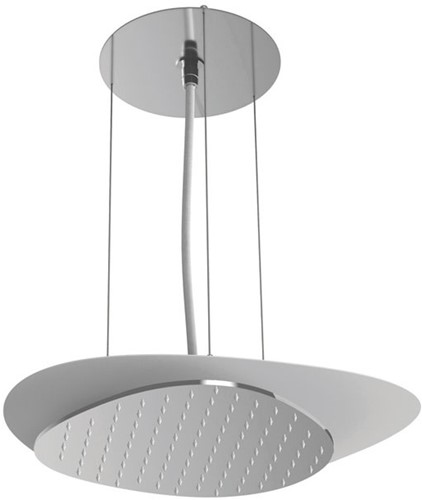 F2651CCR Wellness - Ceiling mounted stainless steel showerhead Cloud