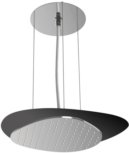 F2651NCR Wellness - Ceiling mounted stainless steel showerhead Cloud