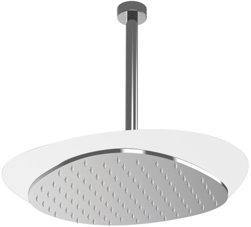 F2652BCR Wellness - Ceiling mounted stainless steel showerhead Cloud