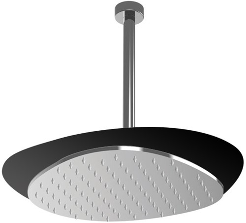 F2652NCR Ceiling mounted stainless steel showerhead Cloud