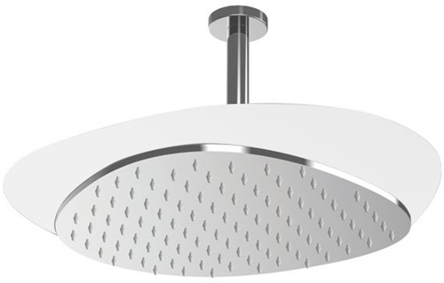 F2653BCR Wellness - Ceiling mounted stainless steel showerhead Cloud