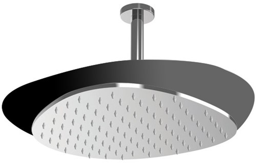 F2653NCR Wellness - Ceiling mounted stainless steel showerhead Cloud