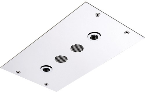F2820CR Wellness - Ceiling mounted stainless steel showerhead Modular