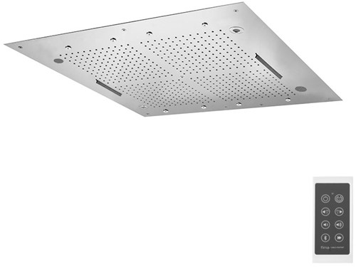 F2900CR Wellness - Hamonia stainless steel ceiling mounted showerhead with LED for cromotherapy