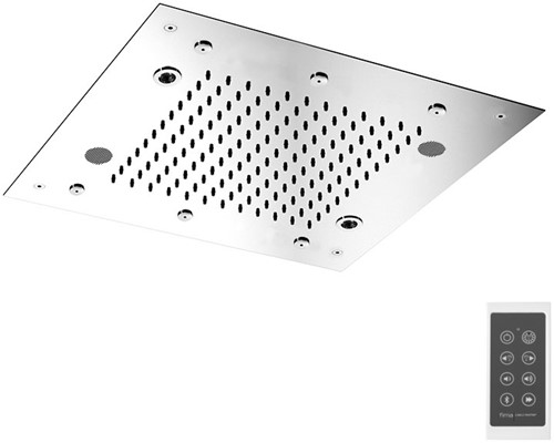F2902CR Wellness - Hamonia stainless steel ceiling mounted showerhead with LED for cromotherapy