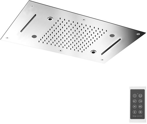 F2904CR Hamonia stainless steel ceiling mounted showerhead with LED for chromotherapy