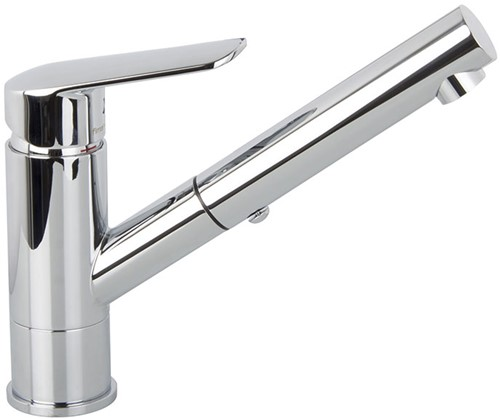 F3008CR Kitchen mixer with extractable handshower Spot