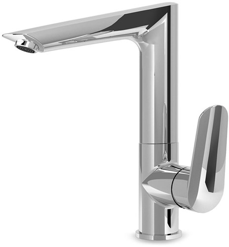 F3011FCR Wash basin mixer with casted swivel spout