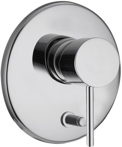 F3039X2CR Single lever bath and shower mixer for_x000D_concealed installation with 2 outlets diverter