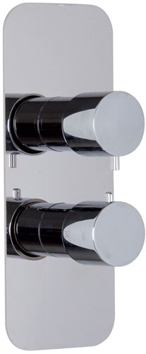 F3229X7CR Thermostatic mixer for concealed installation with 2/3 outlets diverter