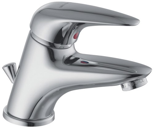 F3281CR.2.WS 3281.2.WS WASHBASIN MIXER L/18 CHROME WITH CLIC CLAC POP-UP WASTE AND