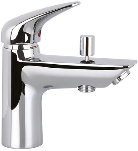 F3294/2NCR.WS 3294/2N.WS ONE-HOLE CHROME BATH MIX WITH DIVERTER L/18 CHROME WITH WSC
