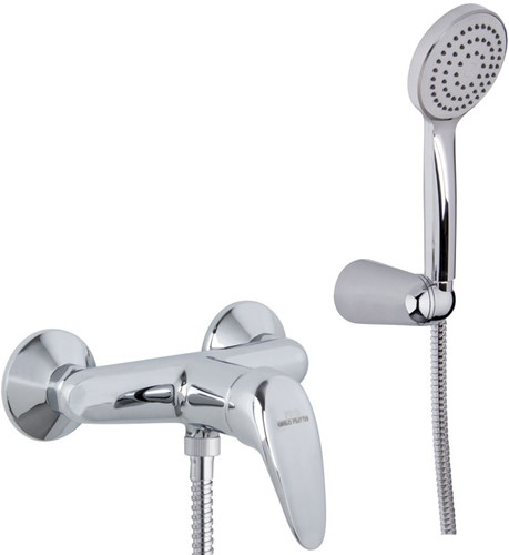 F3295CR.WS 3295.WS CHROME EXT.SHOWER MIXER L/18 WITH SHOWER SET AND WSC CARTR.