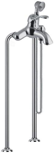 F3304/4CR Floor mounted bath mixer