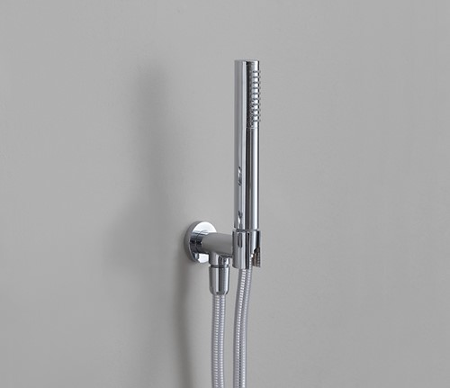 FL2561 FOLD Handdouche incl. muuraansluitbocht/houder 1/2'' en doucheslang - Kleur: GLOSSY WHITE