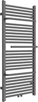 HBR01HH01A Design radiator Antracite met Handdoek houder en midden aansluiting 120x55