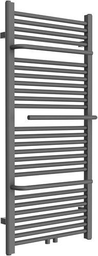 HBR01HH02A Design radiator Anthracite  met Handdoek houder en midden aansluiting 151x55