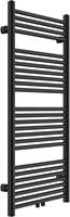 HBR0411B Design radiator Satin Black met midden aansluiting 80x55