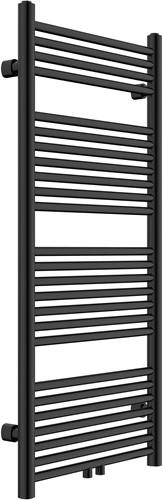 HBR0415B Design radiator Satin Black met midden aansluiting 180x55