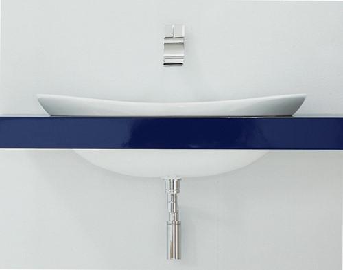 IO4290 Inbouw wastafel IO 90 binnen en buiten geglazuurd - Kleur: GLOSSY WHITE
