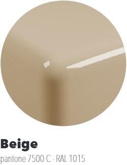 IO60M4BG Wandmeubel IO van 80 tot 150 x 55 x h 10 cm in PIETRALUCE met uitsparing voor wastafel IO 60 (IO4260) - Kleur: BEIGE