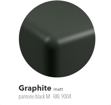 FY40SPGRA Wandmeubel FLYMAX van 80 tot 250 x 55 x 10 cmin PIETRALUCE. Geschikt voor wastafel MINIWASH 40 (MW40SP) - Kleur: GRAPHITE
