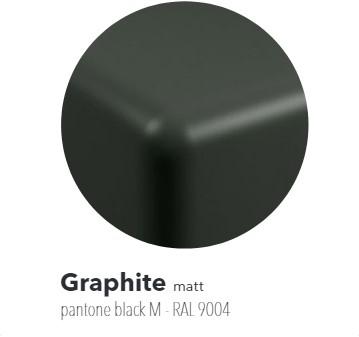 IO70GRA Bad IO cm 165 in PIETRALUCE voor montage tegen de muur - Kleur: GRAPHITE