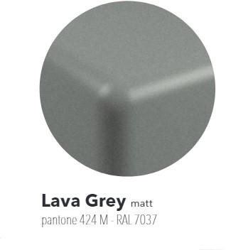 IO70GLA Bad IO cm 165 in PIETRALUCE voor montage tegen de muur - Kleur: LAVA GREY