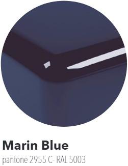 IO70BU Bad IO cm 165 in PIETRALUCE voor montage tegen de muur - Kleur: MARINE BLUE