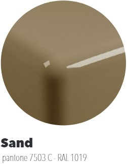 FY40SPSA Wandmeubel FLYMAX van 80 tot 250 x 55 x 10 cmin PIETRALUCE. Geschikt voor wastafel MINIWASH 40 (MW40SP) - Kleur: SAND
