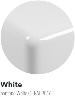 IO60M4B Wandmeubel IO van 80 tot 150 x 55 x h 10 cm in PIETRALUCE met uitsparing voor wastafel IO 60 (IO4260) - Kleur: GLOSSY WHITE