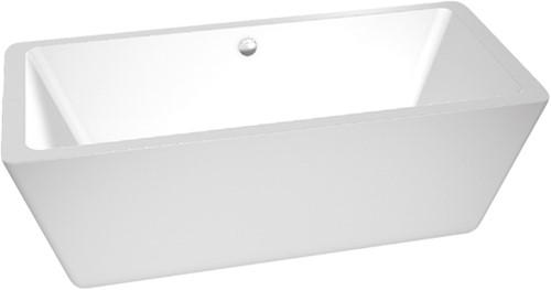 RO2069 Vrijstaand bad glanzend wit SQUARE-D