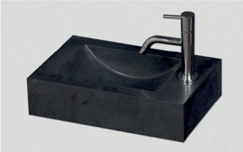 RO4026B02 Rechthoekige fontein zwart graniet