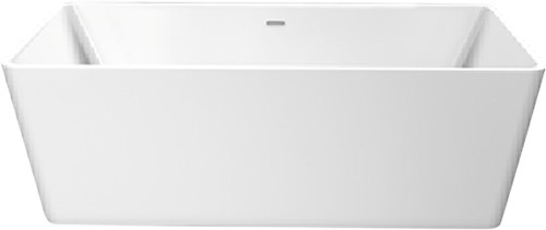 RO475 Vrijstaand bad glanzend wit SQUARE