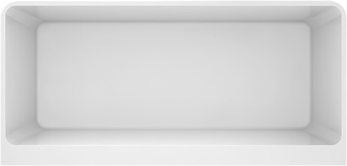 RO555 Semi-Vrijstaand bad glanzend wit BACK TO WALL