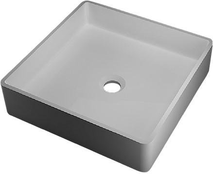 RO763 Vrijstaand Solid Surface opbouw kom mat wit